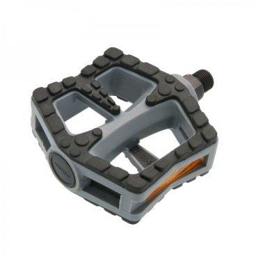 Педали Wellgo LU-990Педали для велосипедов<br>Педали Wellgo LU-990, серые <br>Характеристики:<br><br>Назначение: городские велосипеды<br>Материал: пластик, kraton<br>Ось: сталь<br>Подшипники: насыпные<br>Размер: 106.5х94х33.2 мм<br>Вес: 406 г.<br>