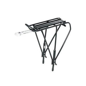 TOPEAK Uni Explorer багажник д/велосипедов универсальный, blackБагажники для велосипеда<br>Универсальный размер этого алюминиевого трубчатого заднего багажника плюс наличие регулируемых ножек позволяют ему быть совместимым с большинством колес MTB от 24 до 29, а также городскими велосипедами 700C с дисковыми тормозами. Прочная трубчатая стойка идеально подходит для путешествий или поездок на работу.<br>