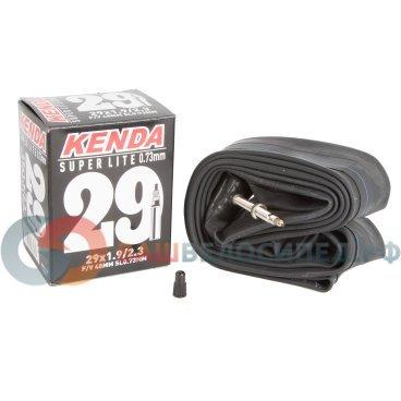 Велокамера KENDA SUPERLITE 29, 1,9-2,3 (50/58-622), суперлегкая, спортниппель 48 мм, 5-515242Камеры для велосипеда<br>Камера Super Lite – качественная и легкая камера для любителей и профи. Толщина стенки - 0,73 мм. Преста (вело).<br><br>Категория:MTB<br>Размер:1,9-2,3 (50/58-622)<br>Диаметр в дюймах:29<br>