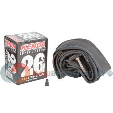 Камера KENDA 26х1.75-2.125 (47/57-559) толщина стенки 0,73мм Superlite спортниппель, 5-515221Камеры для велосипеда<br>Камера для велосипеда KENDA Superlite 26х1.75-2.125 (47/57-559)<br>Ниппель спорт, облегченная, толщина стенки 0,73мм высокоэластичная бутиловая резина, индивидуальная упаковка<br>Артикул 5-515221<br>