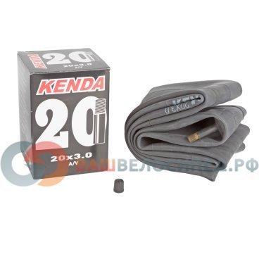 Камера KENDA 20, авто нипель,  3,00 (68-406), широкая, 5-514432Камеры для велосипеда<br>NEW, 20х3,00, 68-406, широкая, ниппель авто, высокоэластичная бутиловая резина, инд. уп.<br>