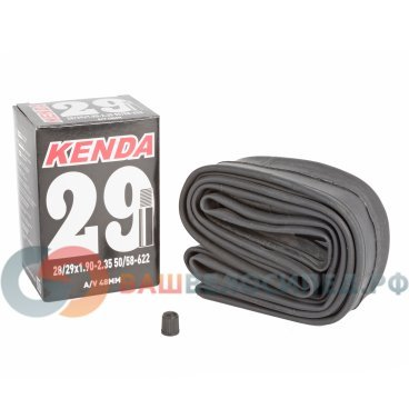 Камера KENDA 29, 1.9-2.35 (50/58-622), авто ниппель,  5-511805Камеры для велосипеда<br>NEW, 28-29х1,9-2,35 (50/58-622), ниппель авто 48мм, высокоэластичная бутиловая резина, инд. уп.<br>