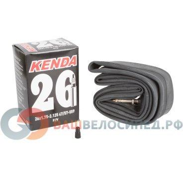 Камера для велосипеда KENDA 26х1.75-2.125 (47/57-559) спортниппель 5-511213Камеры для велосипеда<br>Камера для велосипеда KENDA 26х1.75х2.125 (47/57-559) спорт <br>Ниппель спортивный, высокоэластичная бутиловая резина, индивидуальная упаковка<br>Артикул 5-511213<br>