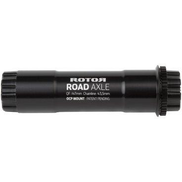 Ось шатунов Rotor Aldhu 3D+ Axle RD Black (C02-102-98010-0)Велосипедная каретка<br>Ось шатунов Rotor Aldhu 3D+ Axle RD черная <br><br>Описание:<br>Стандартная сменная ось для систем ALDHU 3D+ от Rotor. Ось отфрезерована из авиационного алюминия и подходит для большинства стандартов кареток под 30 мм.<br><br>Технические характеристики:<br>Применение: шоссе, кросскантри, циклокросс <br>Q-фактор 147 мм<br>ChainLine: 43.5 мм<br>Диаметр оси: 30 мм<br> Материал: алюминий (7075-T6) <br>Совместимость:<br>- С каретками   Rotor,  с диаметром оси 30 мм: ( BB386EVO, BB30, BB86, BBRight, BSA, ITA, Pressfit 30)<br>