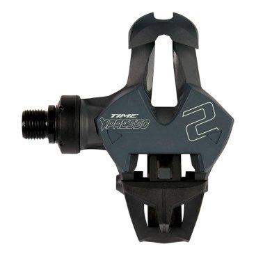 Педали контактные TIME Xpresso 2 (01108050)Педали для велосипедов<br>Педали контактные TIME Xpresso 2 <br><br>Описание<br>Шоссейные педали со стальной осью и композитным корпусом. Вместо традиционных металлических пружин в данной модели используются упругие карбоновые пластины для дополнительного снижения веса. Новый патентованный механизм заметно упрощает встегивание, а широкая платформа со сменной композитной накладкой добавляет контроля при езде. Вес пары педалей составляет 225 граммов.<br><br>Особенности:<br>-Материал корпуса/пружины: композитный материал/карбон<br><br>-Полая стальная ось<br><br>-Широкая платформа со сменной композитной накладкой<br><br>-Вес: 225 грамм (пара)<br>