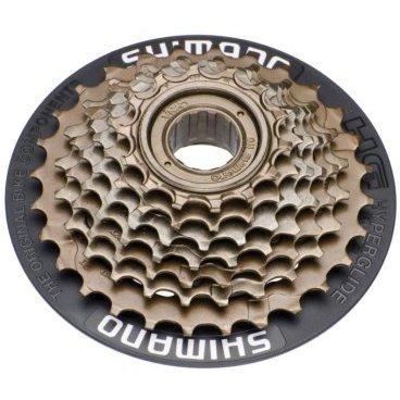 Трещетка для велосипеда Shimano Tourney TZ21 7 скоростей, 14-28, с защитой, AMFTZ21CP7428TКассеты<br>Трещотка, TZ21, 7ск, 14-28, с защитой спиц черного цвета, без упаковки<br><br>Количество зубьев:<br>1-14Т,  2-16Т, 3-18Т, 4-20Т, 5-22Т 6-24Т, 7-28Т.<br><br>Вес: 450 гр.<br>