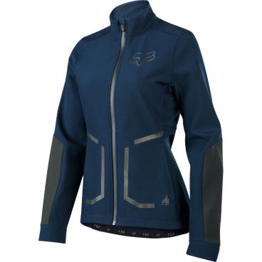 Велокуртка женская Fox Attack Fire Softshell Womens Jacket NavyВелокуртка<br>Велокуртка женская Fox Attack Fire Softshell Womens Jacket темно-синий <br><br>Описание <br>Стильная утеплённая куртка, созданная специально для девушек. Такая куртка отлично подойдёт как для занятий спортом, так и для повседневного ношения. Верх модели выполнен из мягкой эластичной ткани с влагоотталкивающим покрытием C6 DWR; куртка не промокает, отлично дышит и практически не сковывает движений. А благодаря особому покрою под названием RAP (Rider Attack Position) она идеальна для всех любителей MTB.<br><br>Особенности<br>Материал: Ripstop<br><br>Влагоотталкивающее покрытие C6 DWR<br><br>Мягкая флисовая подкладка<br><br>Боковые карманы на молниях<br><br>Карман на груди с выходом для наушников<br><br>Светоотражающие элементы в виде логотипов бренда<br>Рамзер: S, M, L<br>