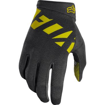 Велоперчатки Fox Ranger Glove черно-желтыеВелоперчатки<br>Велоперчатки Fox Ranger Glove черно-желтые <br><br>Описание <br>Лёгкие эластичные перчатки, которые отлично подойдут для тёплого времени года. Верх модели выполнен из дышащей синтетической ткани, а ладонь отделана двойным слоем искусственной кожи Clarino.<br><br>Особенности:<br>Верх выполнен из дышащей ткани с оригинальным узором<br><br>Ладонь из двухслойной искусственной кожи Clarino<br><br>Накладка из микрофибры на большом пальце<br><br>Удобная застёжка на липучке<br>Размеры: S, M, XL<br>