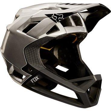 Велошлем Fox Proframe Moth Helmet черно-серебристыйВелошлемы<br>Велошлем Fox Proframe Moth Helmet черно-серебристый <br>  <br>Описание <br>Proframe – самый лёгкий и вентилируемый шлем типа «фулл-фейс» от Fox,созданный для гонщиков эндуро и любителей агрессивного трейлрайдинга. Он вентилируется почти так же, как открытые шлемы, но при этом подходит даже для даунхила, что подтверждает соответствующий сертификат. Это действительно универсальный шлем, в котором вы сможете уверенно ездить где угодно. Proframe обеспечивает райдеру защитные свойства полноценного даунхильного шлема при сверхмалом весе – это стало возможно благодаря использованию патентованной интегрированной защиты челюсти. Благодаря 24 широким отверстиям для вентиляции этот шлем проветривается почти так же, как модели открытого типа – в нём вы не перегреетесь даже на самых трудных и затяжных подъёмах. А на спуске он придаст вам дополнительную уверенность, чтобы смело проезжать самые жёсткие и техничные участки.<br><br>Особенности:<br>-Самый лёгкий фулл-фейс от Fox: Proframe весит всего 750 граммов (в размере M)<br>-Отвечает требованиям таких стандартов безопасноти, как ASTM F1952, EN 1078, AS/NZ 2063 и CPSC<br>-Интегрированная защита челюсти соединяется с корпусом шлема при помощи особой патентованной системы<br>-Мягкий внутренник шлема хорошо дышит, эффективно отводит влагу от головы и обладает антимикробными свойствами<br>Благодаря 24 широким отверстиям для вентиляции Proframe – один из самых лёгких и вентилируемых шлемов, пригодных для даунхила<br>-Фиксированный козырёк расположен таким образом, чтобы обеспечить максимальный приток воздуха к отверстиям для вентиляции<br>-Застёжка Fidlock очень надёжна, при этом она моментально открывается и закрывается<br>-Проверенная временем система MIPS (Multi-directional Impact Protection System)обеспечивает эффективную защиту при косых ударах и резких вращениях головы<br>-Пеноматериал Varizorb дополнительно улучшает защитные свойства шлема<br>Размеры: S (54-56 cм),