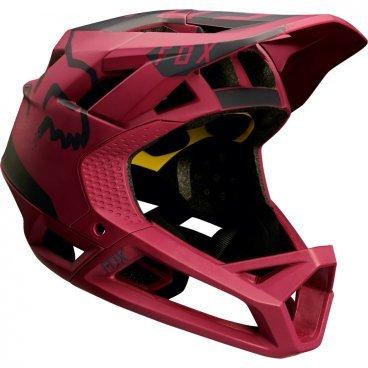 Велошлем Fox Proframe Moth Helmet темно-красныйВелошлемы<br>Велошлем Fox Proframe Moth Helmet темно-красный<br>  <br>Описание <br>Proframe – самый лёгкий и вентилируемый шлем типа «фулл-фейс» от Fox,созданный для гонщиков эндуро и любителей агрессивного трейлрайдинга. Он вентилируется почти так же, как открытые шлемы, но при этом подходит даже для даунхила, что подтверждает соответствующий сертификат. Это действительно универсальный шлем, в котором вы сможете уверенно ездить где угодно. Proframe обеспечивает райдеру защитные свойства полноценного даунхильного шлема при сверхмалом весе – это стало возможно благодаря использованию патентованной интегрированной защиты челюсти. Благодаря 24 широким отверстиям для вентиляции этот шлем проветривается почти так же, как модели открытого типа – в нём вы не перегреетесь даже на самых трудных и затяжных подъёмах. А на спуске он придаст вам дополнительную уверенность, чтобы смело проезжать самые жёсткие и техничные участки.<br><br>Особенности:<br>-Самый лёгкий фулл-фейс от Fox: Proframe весит всего 750 граммов (в размере M)<br>-Отвечает требованиям таких стандартов безопасноти, как ASTM F1952, EN 1078, AS/NZ 2063 и CPSC<br>-Интегрированная защита челюсти соединяется с корпусом шлема при помощи особой патентованной системы<br>-Мягкий внутренник шлема хорошо дышит, эффективно отводит влагу от головы и обладает антимикробными свойствами<br>Благодаря 24 широким отверстиям для вентиляции Proframe – один из самых лёгких и вентилируемых шлемов, пригодных для даунхила<br>-Фиксированный козырёк расположен таким образом, чтобы обеспечить максимальный приток воздуха к отверстиям для вентиляции<br>-Застёжка Fidlock очень надёжна, при этом она моментально открывается и закрывается<br>-Проверенная временем система MIPS (Multi-directional Impact Protection System)обеспечивает эффективную защиту при косых ударах и резких вращениях головы<br>-Пеноматериал Varizorb дополнительно улучшает защитные свойства шлема<br>Размеры: S (54-56 cм), M (57-60