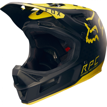 Велошлем Fox Rampage Pro Carbon Moth Graphic черно-желтыйВелошлемы<br>Велошлем Fox Rampage Pro Carbon Moth Graphic черно-желтый <br><br>Описание<br> Rampage Pro Carbon – без сомнения, один из лучших велосипедных шлемов для даунхила и фрирайда. Карбоновая внешняя часть выпускается в двух размерах, а внутренник из специального пенопласта – в трёх, так что вы легко подберёте шлем, который идеально подойдёт именно вам. Ключевая особенность данной модели – дополнительная система защиты под названием MIPS (Multi-directional Impact Protection System), основанная на той же идее, что и данная нам природой естественная защита мозга. . Внутренник шлема не просто крепится к жёсткой оболочке, а скользит относительно неё благодаря тонкой прослойке из специального материала, позволяя существенно снизить риск мозговых травм, случающихся при косых ударах по шлему и при резких вращениях головы. Семнадцать отверстий для вентиляции обеспечивают более чем оптимальную циркуляцию воздуха во время езды, а мягкая подкладка из материала Dri-Lex эффективно отводит влагу от кожи. Шлем прошёл множество испытаний на самых серьёзных соревнованиях и показал себя наилучшим образом.<br><br>Оcобенности:<br>Материал внешней части: углеволокно<br><br>MIPS – дополнительная система защиты, позволяющая существенно снизить риск мозговых травм, случающихся при косых ударах по шлему и при резких вращениях головы<br><br>17 отверстий для вентиляции<br><br>Мягкая быстросохнущая подкладка из материала Dri-Lex<br>Размеры: S (54-56 cм), M (57-60 см)<br>