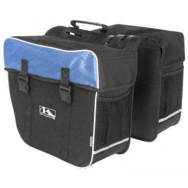 Сумка-штаны M-WAVE на багажник, 30 л.,черно-синяя, 5-122804Велосумки<br>Сумка M-WAVE штаны на багажник, черно-синяя <br><br>Описание <br>M-Wave Amsterdam Double Pannier Bag - отличный вариант для поездок на выходные, ежедневных поездок или посещения продуктового магазина. Коллекция сумок  M-Wave оснащена 600D Tear Proof Nylon и отражающими материалами для самых требовательных велосипедистов. Доступно в нескольких цветах!<br><br>Харктеристики:<br>-600D Tear Proof Nylon<br>-Светоотражающие полоски и сетка <br>-Размеры: 13,5 x 7 x 12 дюймов <br>-Объем:30 л<br>-Большие основные отсеки с защелками Quick Release, и укрепленные пластиковыми стенками.<br>