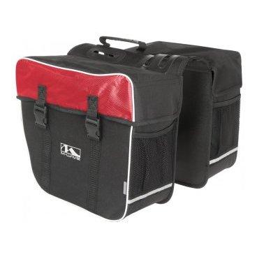 Сумка-штаны M-WAVE на багажник, 30 л., черно-красная, 5-122803Велосумки<br>Сумка M-WAVE штаны на багажник, черно-красная <br><br>Описание <br>M-Wave Amsterdam Double Pannier Bag - отличный вариант для поездок на выходные, ежедневных поездок или посещения продуктового магазина. Коллекция сумок  M-Wave оснащена 600D Tear Proof Nylon и отражающими материалами для самых требовательных велосипедистов. Доступно в нескольких цветах!<br><br>Харктеристики:<br>-600D Tear Proof Nylon<br>-Светоотражающие полоски и сетка <br>-Размеры: 13,5 x 7 x 12 дюймов <br>-Объем:30 л<br>-Большие основные отсеки с защелками Quick Release, и укрепленные пластиковыми стенками.<br>