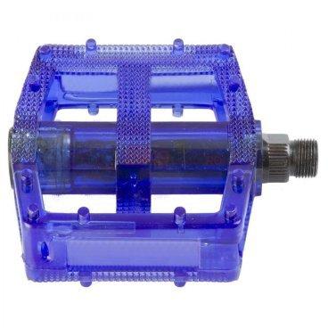 Педали велосипедные M-WAVE BMX, пластикоевые, широкие, ось Cr-Mo, синие, 5-311384Педали для велосипедов<br>Педали M-Wave - BMX <br><br>Технические характеристики: <br>Тип велосипеда: BMX <br>Цвет: cиний <br>Материал: пластик <br>Вес: 390 г<br>Ось: 9/16 дюйма<br>Размер: 10 x 10 см (Д х Ш)<br>