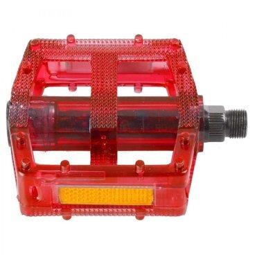 Педали велосипедные M-WAVE BMX, пластикоевые, широкие, ось Cr-Mo, красные, 5-311383Педали для велосипедов<br>Педали M-Wave - BMX <br><br>Технические характеристики: <br>Тип велосипеда: BMX <br>Цвет: красный <br>Материал: пластик <br>Вес: 390 г<br>Ось: 9/16 дюйма<br>Размер: 10 x 10 см (Д х Ш)<br>
