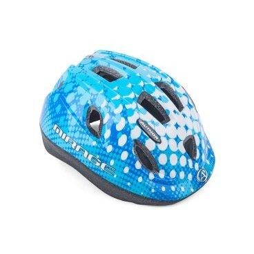 Шлем детский AUTHOR Mirage 167, светодиодный фонарь, 12 отверстий, синий, 48-54см, 8-9089982Велошлемы<br>Легкие детские шлемы. Удобные регулировки быстрые и легкие в использовании, большие вентиляционные отверстия с сеткой от насекомых притягивают прохладный свежий воздух, чтобы улучшить комфорт практически в любых условиях. Удерживающий диск с 1 светодиодным мигающим светом  (батарея LR41) повышает безопасность пользователя.<br>Технология формовки предлагает сопротивление и малый вес.<br>Размер: 48-54см<br>Антибактериальные сменные подушечки.<br>12 вентиляционных отверстий обеспечивают отличную вентиляцию (перед ними с сеткой от насекомых).<br>Вес 220г.<br>