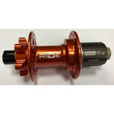 Втулка задняя RIDE Enduro, 32h, 12x142 мм Anti Bite, оранжевый, RREAB3212X142ORВтулки для велосипеда<br>Высококачественная задняя втулка, рассчитанная на установку вставной 12-миллиметровой оси. Корпус и ось изготовлены из алюминиевого сплава марки 7075, а четыре закрытых подшипника и шесть собачек барабана обеспечивают механизму малый угол свободного хода, надёжность и долгую жизнь. Втулка совместима с кассетами Shimano на 9, 10 и 11 звёзд, а также с кассетами SRAM XX1 (при замене барабана).<br><br><br><br>ОСОБЕННОСТИ<br><br><br><br>Материал корпуса и оси: алюминиевый сплав марки 7075<br><br>Четыре закрытых подшипника<br><br>Свободный ход: 6.7 градуса<br><br>6 собачек и 54 зацепа барабана<br><br>Совместима с кассетами Shimano 9/10/11S и SRAM XX1 (при замене барабана)<br><br>Размер оси: 142х12мм<br><br>Количество отверстий для спиц: 32<br><br><br><br>Вес: 267 граммов<br>