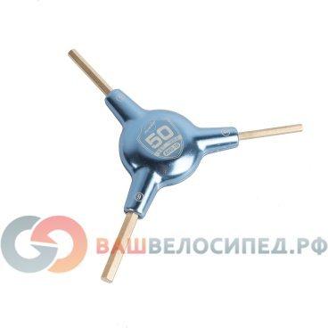 Ключ Y-образный, 4/5/6мм, шестигранники, юбилейный PTLAWS-50Велоинструменты<br>Ключ Y-образный Park Tool AWS-50, шестигранники 4/5/6мм, юбилейная серия.<br>