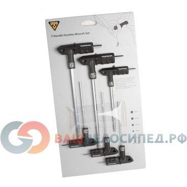 Набор шестигранных ключей TOPEAK T-Handle duohex Wrench (6 шт) TPS-SP01Велоинструменты<br>TOPEAK T-Handle duohex Wrench (6 шт) набор шестигранных ключей<br>