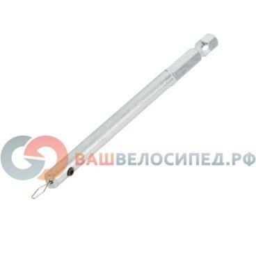 Ключ спицевой Ice Toolz, для глубоких ободов, 12S4Велоинструменты<br>Ключ ниппельный для глубоких ободов. Специальная пружина ужерживает ниппель без особых усилий. Возможно использование с 1/4 шуруповертом.<br>