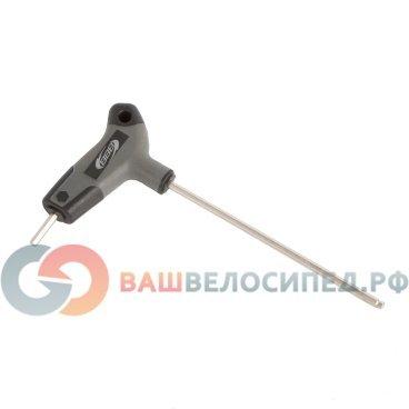 Ключ велосипедный BBB Hex, шестигранник, T 4mm, BTL-45Велоинструменты<br>-Т-образный шестигранник 4мм<br><br>-Рукоятка из прочного нейлона<br>