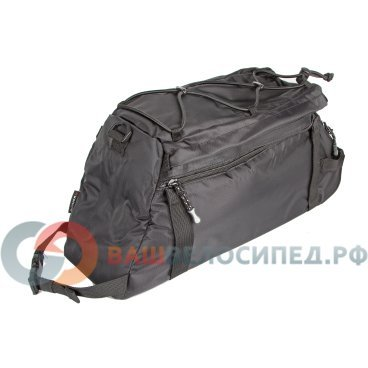 Велосумка 8-15000057 на багажник A-N472 с плечевым ремнем V=8+3л черная AUTHORВелосумки<br>для перевозки фотоаппарата, одежды и других аксессуаров, легкое крепление на все типы багажников, высококачественный водоотталкивающий материал, изменяемый объем (раскладывающаяся, V=8+3л), 1 внутренний и 1 наружные карман, плечевой ремень, светоотражающие элементы, черная<br>