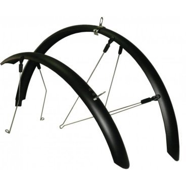 Крылья для велосипеда  Merida CROSSWAY 100, ширина 50 мм, комплект, черные, 3101000271Крылья для велосипедов<br>Крылья для велосипеда  Merida CROSSWAY 100, ширина 50 мм, комплект, черные<br>