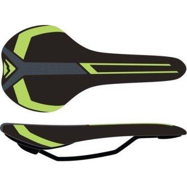 Седло Merida Race черно-зеленое, 2070074028Седла для велосипедов<br>Седло Merida Race черно-зеленое.<br>