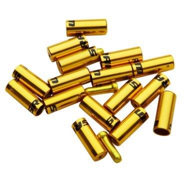 Комплект наконечников для рубашки SRAM Ferrule Kit золотой, 00.7115.010.040Тросики и Рубашки<br>Комплект наконечников для рубашки SRAM Ferrule Kit <br><br>Описание:<br>Комплект алюминиевых наконечников c прорезинеными колпачками 4 мм и 5 мм, для дополнительной герметичности и защиты рубашки.<br>Для тормозных и рубашек переключения.<br>Цвет: золотой<br>
