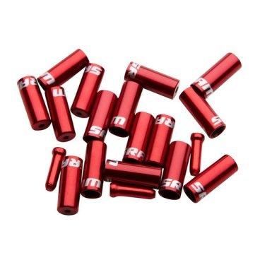 Комплект наконечников для рубашки SRAM Ferrule Kit, красный, 00.7115.010.020Тросики и Рубашки<br>Комплект наконечников для рубашки SRAM Ferrule Kit <br><br>Описание:<br>Комплект алюминиевых наконечников c прорезинеными колпачками 4 мм и 5 мм, для дополнительной герметичности и защиты рубашки.<br>Для тормозных и рубашек переключения.<br>Цвет: красный<br>