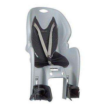 Детское велокресло на багажник NFUN AMICO, серое с черной вставкой, до 7лет/22кг, 01-100025Детское велокресло<br>Велокресло серое, черная подкладка, крепится к багажнику, до 22кг, до 7 лет, регулируемая высота подножек, с трехточечными регулируемыми страховочными ремнями, отражатель на спинке, облегченное, быстросъемное, cертификат T?V (Италия)<br>