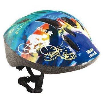 Велошлем детский NFUN URBAN, 8 отверстий, синий, 01-100011Велошлемы<br>Велошлем 8 отверстий, с защитной сеточкой, высокопрочный пластик, технология InMold обеспечивает высокую прочность при низком весе, регулируемый, синий (дизайн URBAN), разработан и протестирован в Италии, инд. уп.<br>