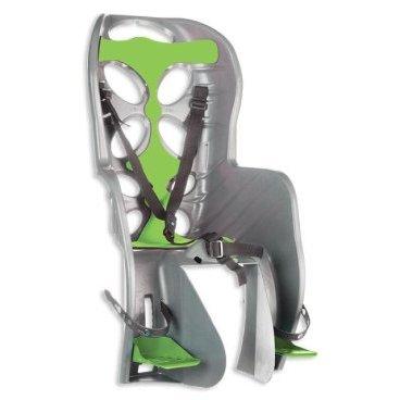 Детское велокресло на подседельный штырь NFUN CURIOSO, до 7 лет/22кг, 01-100058Детское велокресло<br>Детское велокресло светло-серое, зеленая подкладка, крепится к подседельной трубе, до 22кг, до 7 лет, регулируемая высота подножек, с трехточечными регулируемыми страховочными ремнями, отражатель на спинке, облегченное, быстросъемное, cертификат T?V (Италия)<br>