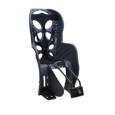 Детское велокресло на подседельный штырь NFUN CURIOSO, до 7лет/22кг, 01-100063Детское велокресло<br>Детское велокресло темно-серое, черная подкладка, крепится к подседельной трубе, до 22кг, до 7 лет, регулируемая высота подножек, с трехточечными регулируемыми страховочными ремнями, отражатель на спинке, облегченное, быстросъемное, cертификат T?V (Италия)<br>