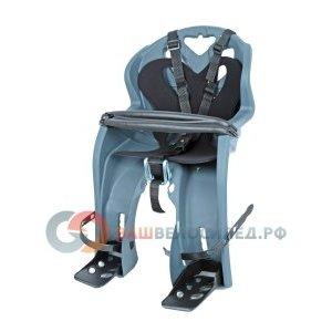 Детское велокресло переднее на вынос NFUN SIMPATICO, серое с черной вставкой, до15кг, 01-100036Детское велокресло<br>Велокресло темно-серое, черная подкладка, крепится к выносу 1, до 15кг, до 4 лет, регулируемая высота подножек, с трехточечными регулируемыми страховочными ремнями, с поручнем, быстросъемное T?V (Италия)<br>