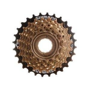 Трещотка Shimano TZ500, 7 скоростей, 14-34T, 520 г, без упаковки, AMFTZ5007434Кассеты<br>Трещотка - Shimano MF-TZ500 Tourney MegaRange для велосипедов с трансмиссией на 7 передач. Имеет крепление на любую заднюю втулку с резьбой, устанавливается и снимается специальным велосипедным съёмником. Является лидером в сегменте бюджетных трещоток, благодаря долгому ресурсу и качественному переключению. <br><br>Диаметр резьбы 35 мм. <br>Тип звезд Трещотка <br>Звезды 14-34T <br>Вес 520 г<br>Дополнительно защита от спиц <br>Бренд Shimano <br>Кол-во скоростей 7<br>