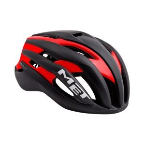Велошлем Met Trenta, матовый черно-красный 2018Велошлемы<br>Новый шоссейный шлем от Met, созданный для профессионального использования. Стандартная модель Trenta весит чуть больше, чем версия 3k Carbon, но в остальном, это всё тот же высококачественный аэродинамичный шлем, позволяющий снизить сопротивление воздуха во время езды на 7%. Пенопластовый внутренник интегрирован в корпус из высокопрочного поликарбоната, что обеспечивает шлему компактность и низкий вес при хороших защитных свойствах. И, разумеется, данный шлем сертифицирован и отвечает всем требованиям стандарта безопасности CE.<br><br><br><br>ОСОБЕННОСТИ<br><br><br><br>Новый шоссейный шлем от Met, созданный для профессионального использования<br><br>Пенопластовый внутренник шлем интегрирован в корпус из высокопрочного поликарбоната<br><br>Удобная система застёжек Safe-T Orbital<br><br>Аэродинамичный профиль<br><br>Отвечает требованиям стандарта безопасности CE<br>