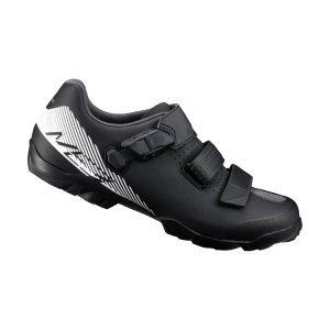 Велотуфли Shimano SH-ME300, черно-белыйВелообувь<br>Многофункциональные ботинки для бездорожья. Созданы для оптимального сочетания педалирования и ходьбы. Отличный выбор для любителей различных направлений маунтинбайка. <br><br>Характеристики:<br><br>Прослойка подошвы TORBAL обеспечивает комфорт и оптимальную циркуляцию воздуха вокруг стопы<br>Застёжка бакля и перекрёстные липучки надёжно фиксируют ногу<br>Резиновый протектор гарантирует уверенное сцепление<br>Подошва усилена стекловолокном для оптимальной передачи усилия на педали<br>Материал: синтетическая кожа<br>Вес пары: 762 грамм (размер 42)<br>