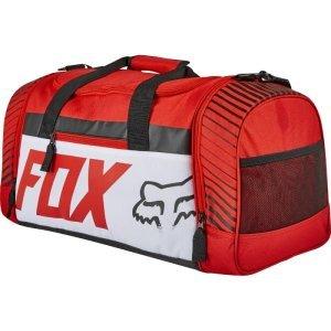 Велосумка Fox 180 Race Duffle Bag, красный, 19983-003-NSВелосумки<br>Удобная и вместительная сумка от Fox, которая отлично подойдёт как для велоэкипировки, так и для любых других вещей, которые вы решите взять с собой в дорогу. Основные особенности данной модели - большое основное отделение и два дополнительных отделения на молниях.<br><br><br><br>ОСОБЕННОСТИ<br><br><br><br>Большое основное отделение<br><br>Два дополнительных отделения на молниях<br><br>Оригинальная графика<br>