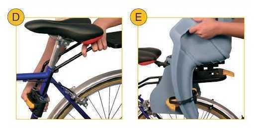 Установка велокресла с креплением Clever