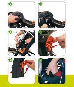 Установка велокресла с креплением Handlefix