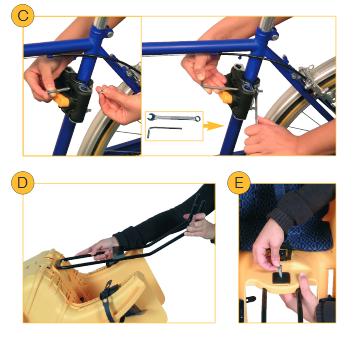 Установка велокресла с креплением Multifix_Bfix