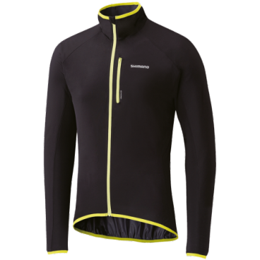 Велокуртка, SHIMANO, WINDBREAK STRETCHABLE, черная р-рM(арт.ECW-JATW-KS23-UL3)
