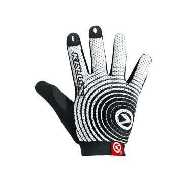 Перчатки KELLYS INSTINCT long, бело-чёрные, L, Gloves INSTINCT long , white/black L