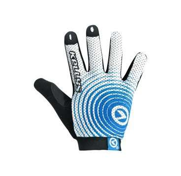 Перчатки KELLYS INSTINCT long, бело-синие, L, Gloves INSTINCT long , white/blue L