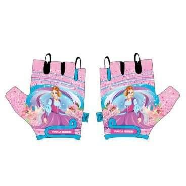 Перчатки велосипедные детские, гелевые вставки, цвет розовый, размер 7XS, VG 952 Princess Kate (7)  - купить со скидкой