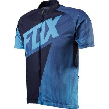 Велофутболка Fox Livewire Race SS Jersey, черно-синяя  - купить со скидкой
