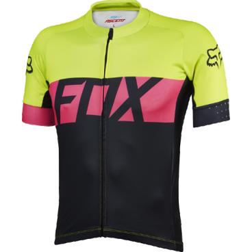 Велофутболка Fox Ascent SS Jersey, желтая  - купить со скидкой