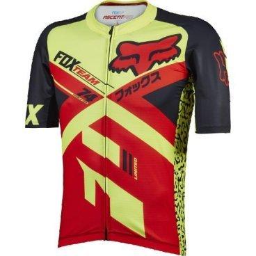 Велофутболка Fox Ascent Pro SS Jersey, красная  - купить со скидкой