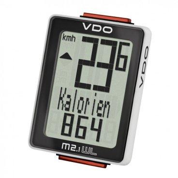 Велокомпьютер VDO M2.1WL, 8 ф-ций, беспроводной, 3-строчный дисплей, черно-белый, 4-30025  - купить со скидкой